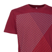 Spacegrid T-Shirt / ruby