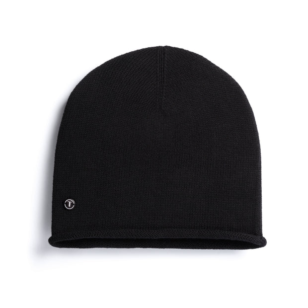 TT102 Beanie Black GOTS & Fairtrade