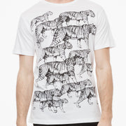 Tiger T-Shirt / black | white