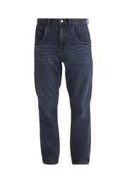 WORKER // Organic Relaxed Straight Leg Jean in Dark Wash