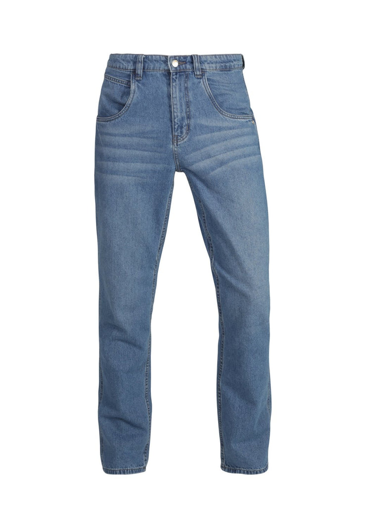 MONKEEGENES / Worker Organic Relaxed Straight Leg Jean / Light Wash