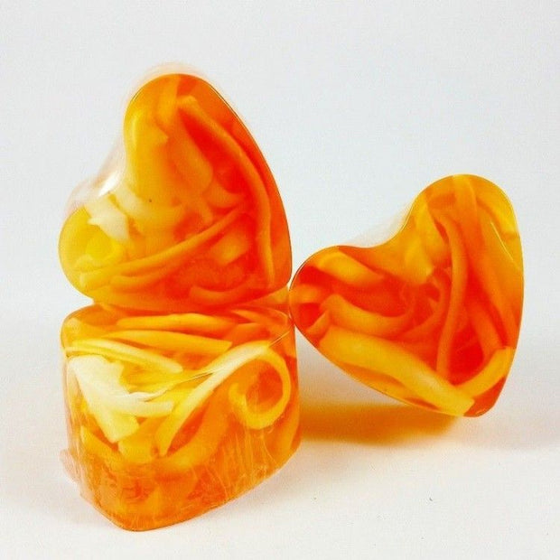 Heart-Shaped Soap Mandarine