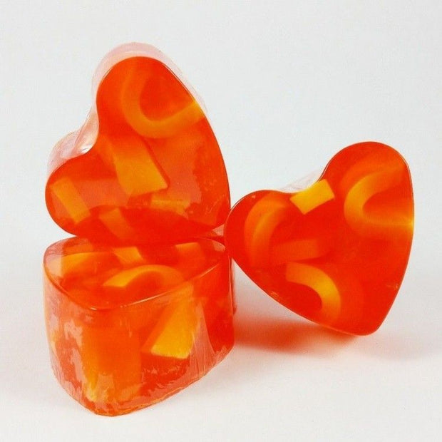 Heart-Shaped Soap Orange