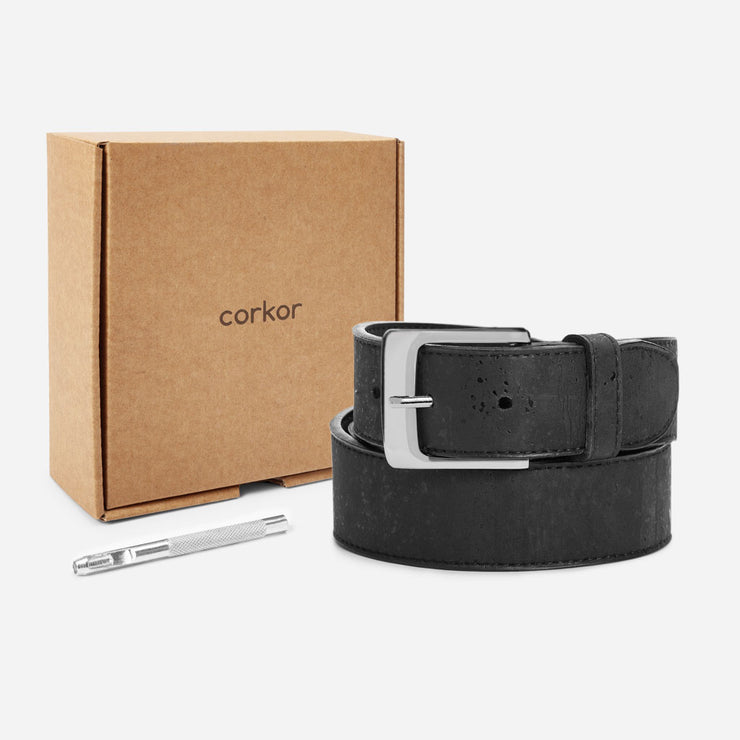 CORKOR / Men Cork Belt 35mm / Black