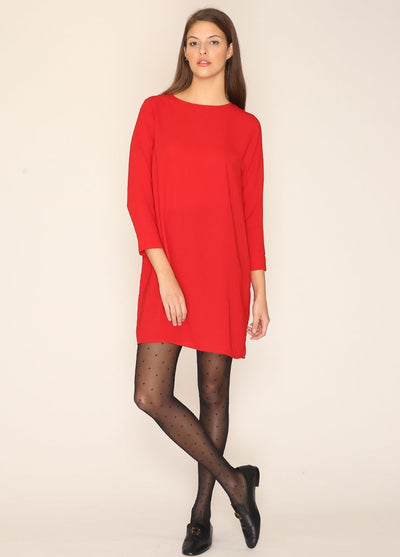 PEPALOVES / Short Dress / Burgundy