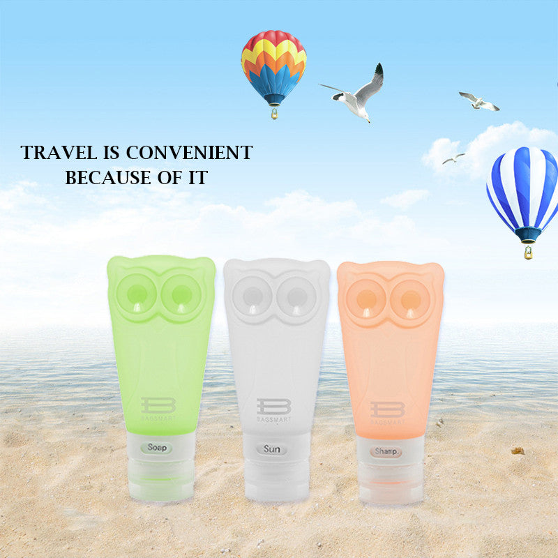 Travel Toiletry Containers - Silicone Small Bottles 2.8 oz. / 83ml- Set of 3pcs - Eco Haven