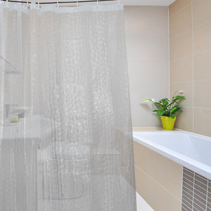 Eco-friendly EVA Moldproof Waterproof 3D Thickened Bathroom Bath Shower Curtain 1.8*2m / 1.8*1.8m - Eco Haven