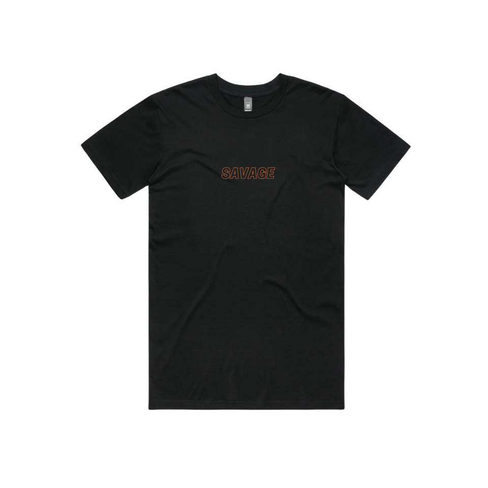 WARM UP TSHIRT - BLACK BLACK