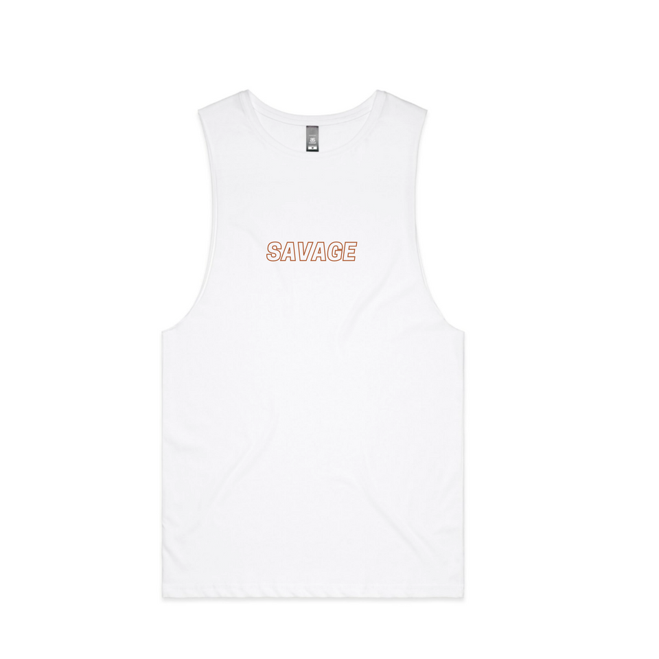 GYM CUT OFF TEE - WHITE