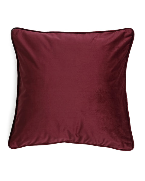 Luxe Velvet Burgundy Pillow Cover
