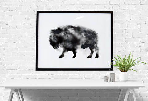 Buffalo Watercolor Download