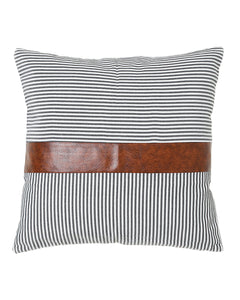 Brooks Leather Stripe Pillow Cover