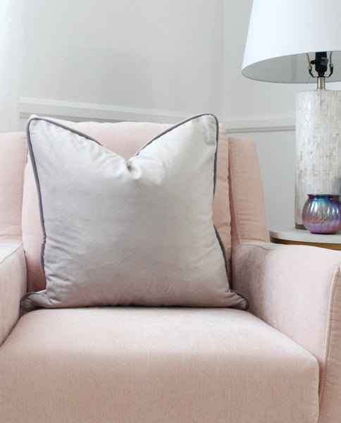 Luxe Velvet Silver Pillow Cover