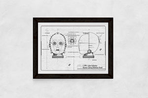 Black and White C3PO Blueprint Download