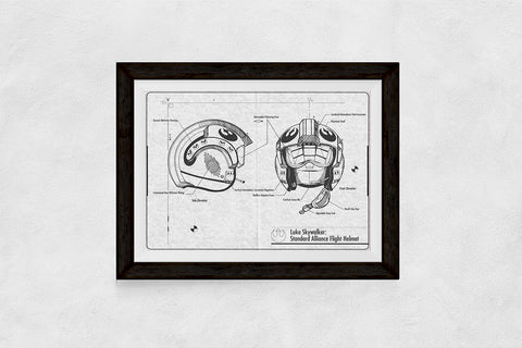 Black and White Luke Skywalker Blueprint download