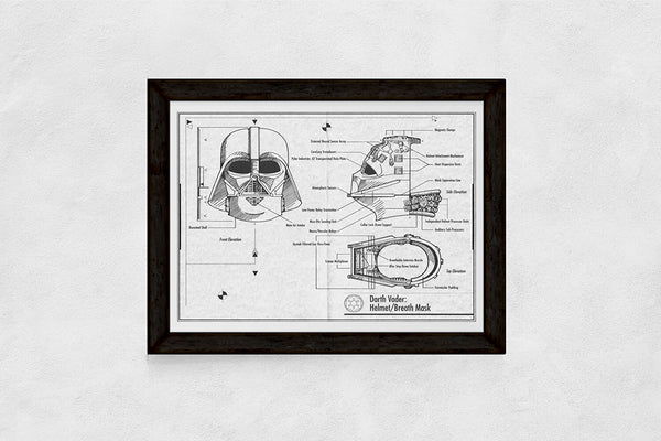 Black and White Darth Vader blueprint download