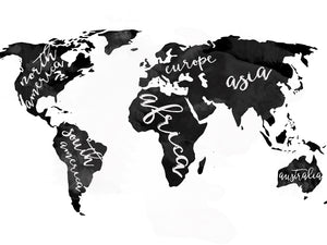 World Map with Words Downloads