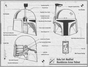 Black and White Boba Fett Blueprint Download