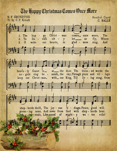 Happy Christmas Comes Once More Vintage Music - Digital Download