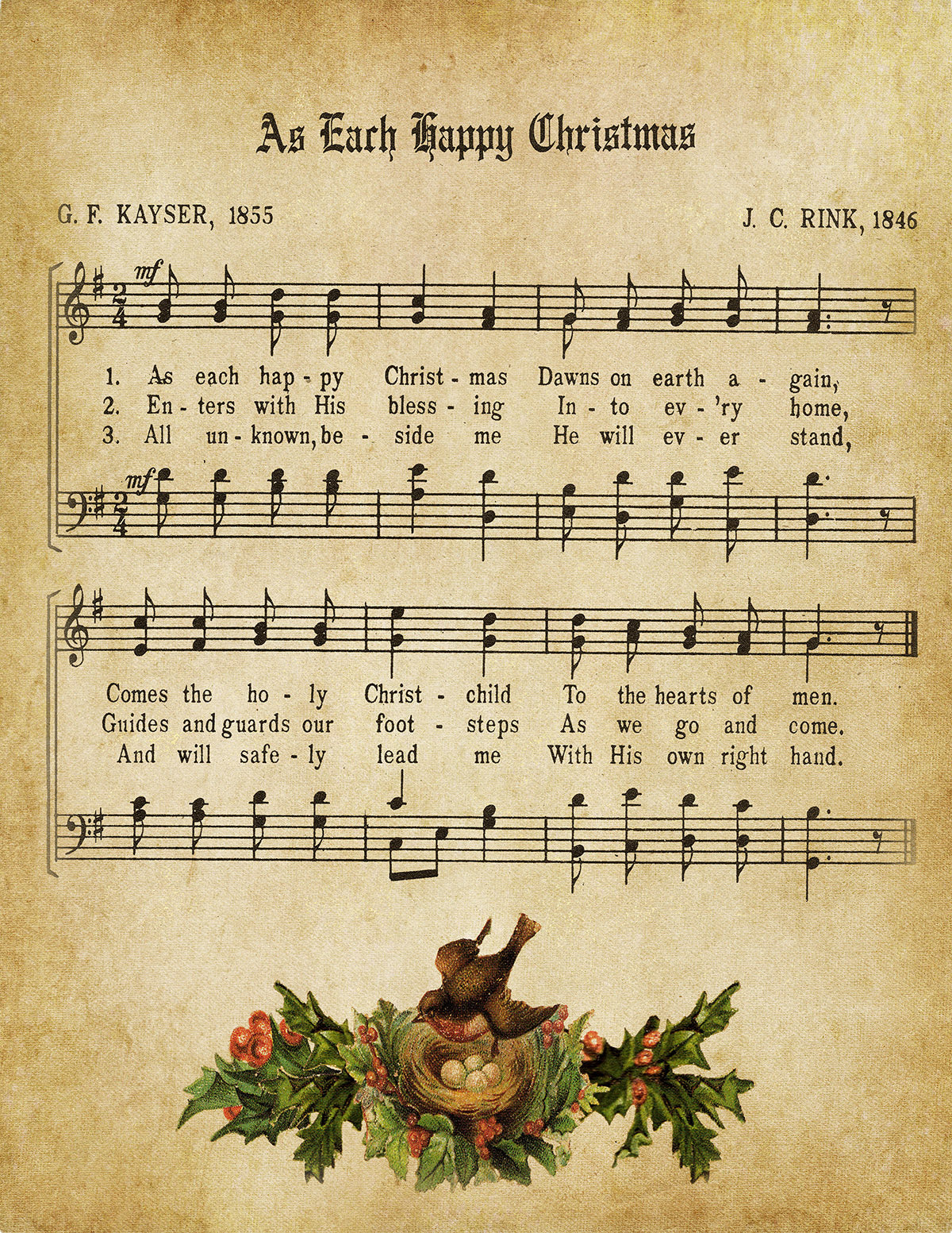 As Each Happy Christmas Vintage Music - Digital Download