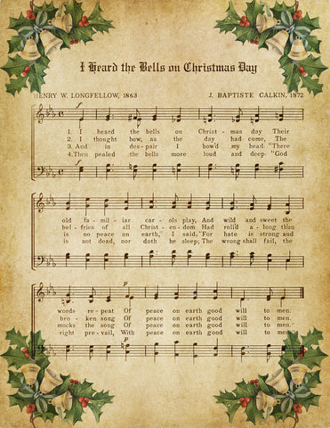 I Heard the Bells on Christmas Day Vintage Music - Digital Download