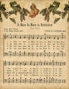 A Babe is Born in Bethlehem Vintage Music - Digital Download