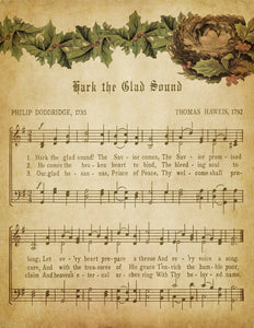 Hark the Glad Sound Vintage Music - Digital Download