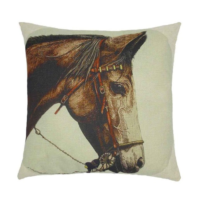 Cushion Pillows Horse Printed Fashion European Style Home Decor Fundas Decorative Throw Pillows Fashion Almofadas Cojines
