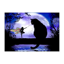 5D Diamond Painting Colorful Horse Black Cat and Butterfly Fairy Diamond Embroidery DIY Cross Stitch Home Decor Study Ornament
