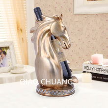 310MM European Vintage Horse Wine Rack Ornaments Creative Home Decorations Gifts NEW Fashion Exquisite Resin Crafts Send S447