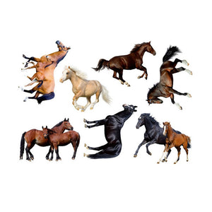 Chinese Style Horse Wall Paper Antistatic Wall Sticker Office Wall Poster Dirtproof Wall Ornament Home Decoration