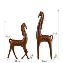 51CM Northern Europe Style Xvdieo Abstraction Horse Resin Artwork Home Desktop Decoration Office Action Figure Model Toy L1613