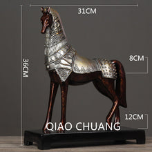 36CM Creative Chinese Style Simulation Creative Bronze War Horse 2colour Bronze Silver Bronze Gold Home Furnishing Articles G797