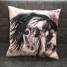 Cotton & Linen Cushion Cover Horse Letters Pattern Home Bedroom Couch Nap