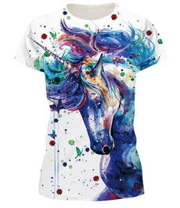 668ce5dcbbb Mr.1991INC 2018 New Hot Men Women t shirt Short Sleeve Summer Color unicorn