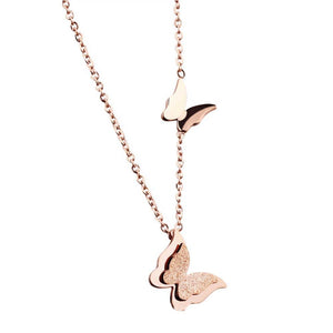Butterfly necklace in minimalist style