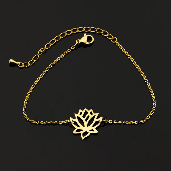 Zen Pond Lotus Flower Bracelet gold 1