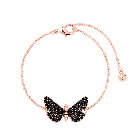 Black crystal butterfly bracelets Charm bracelets for women (main view)