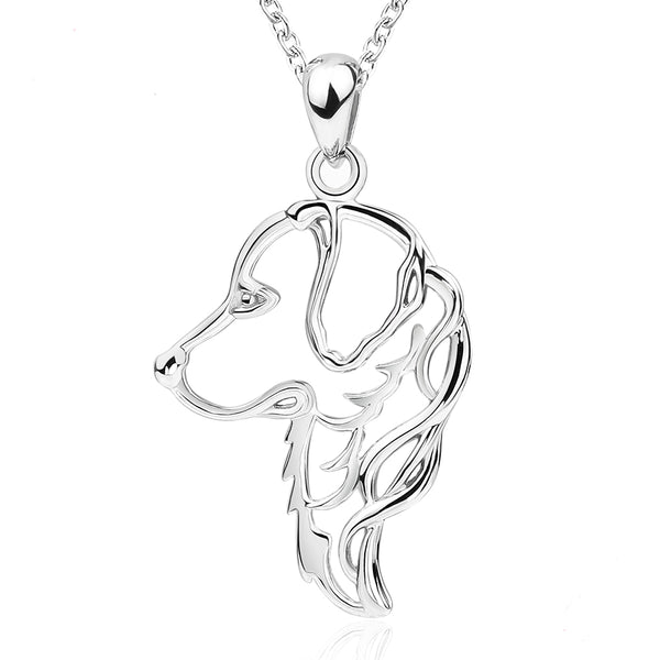 Golden Retriever Dog 925 Sterling Silver Necklace
