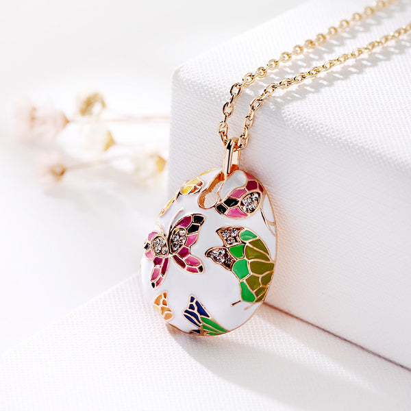 The Cloisonné Butterfly Necklace