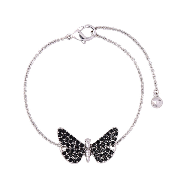 Butterfly bracelets in silver color