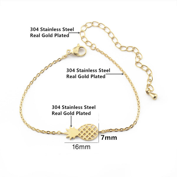 dimensions of the pineapple charm bracelet