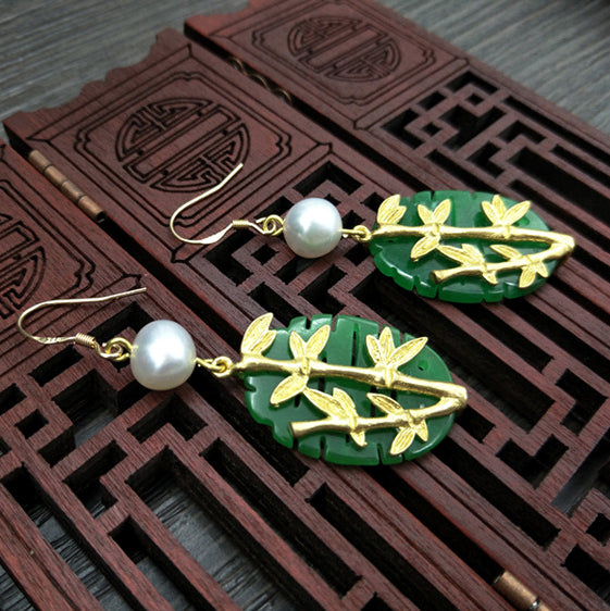 This is a pair of earrings with an Asian twist
