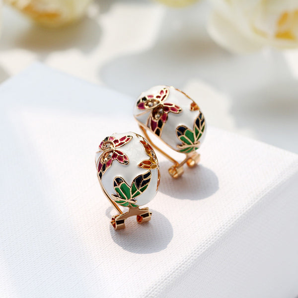 The Cloisonné Butterfly Earrings