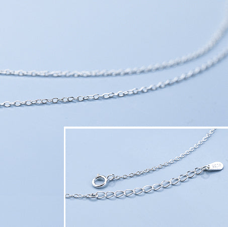 Sakura Branch 925 Sterling Silver Necklace clasp