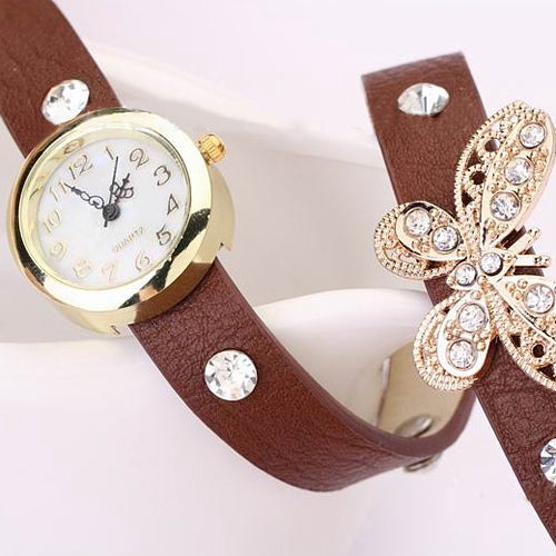 Wrist Band Women's Butterfly Watch