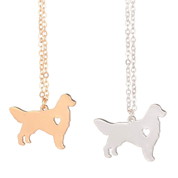 Animal jewelry Dog necklace Charm necklace for women 1 (two colors)