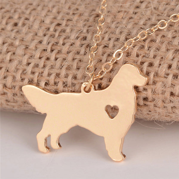 Animal jewelry Dog necklace Charm necklace for women (gold)