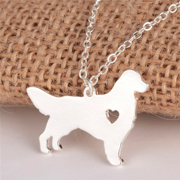 Animal jewelry Dog necklace Charm necklace for women (silver)