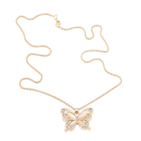 Big butterfly necklace Statement necklace for women (full view)